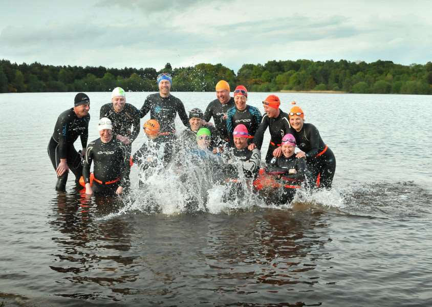 Flashback to 2013 when King's Lynn Triathlon Club start new weekly open water swimming session at Leziate Park.