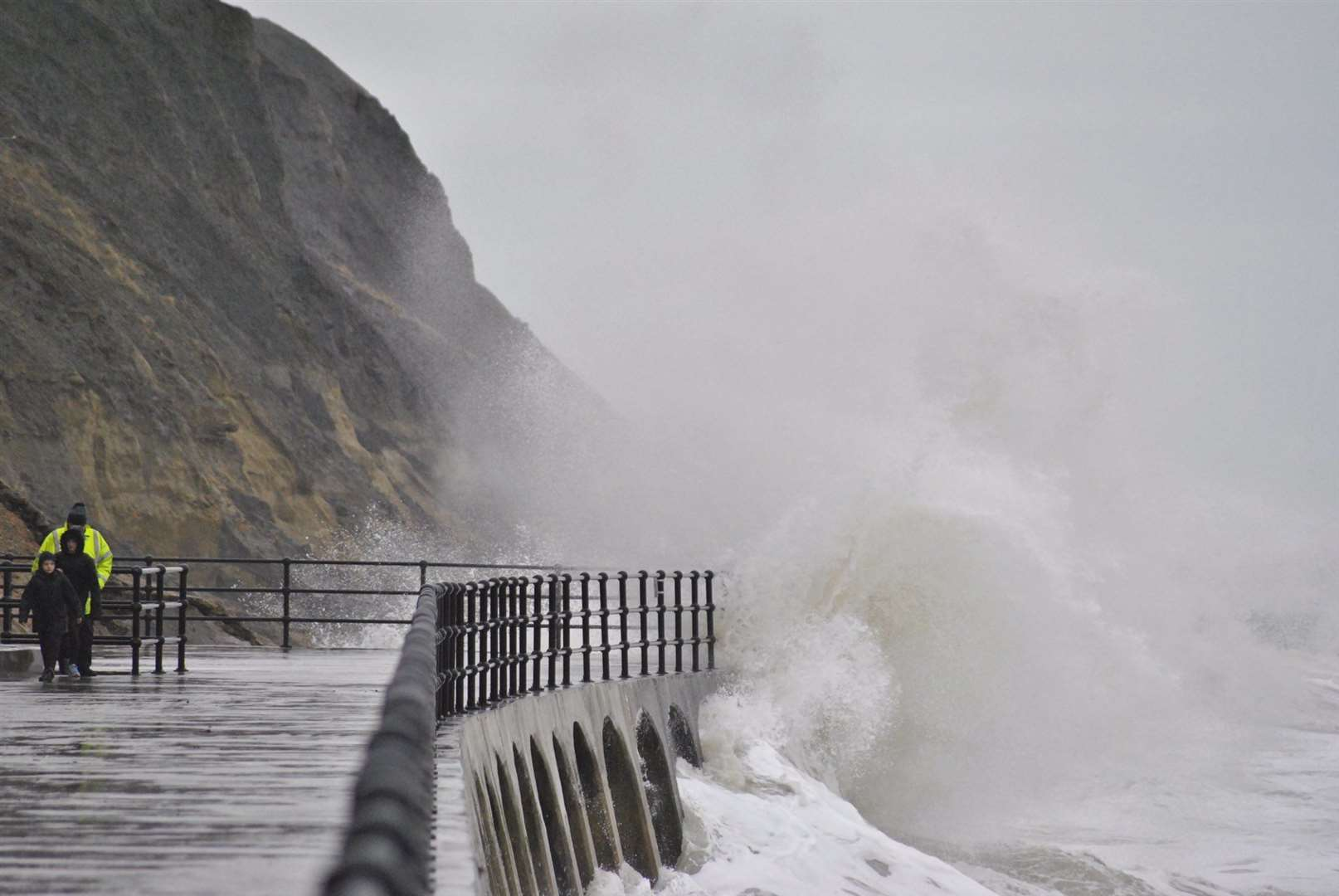 Storm Dennis: high seas at Folkestone. Picture: Alan Leigh (41724295)