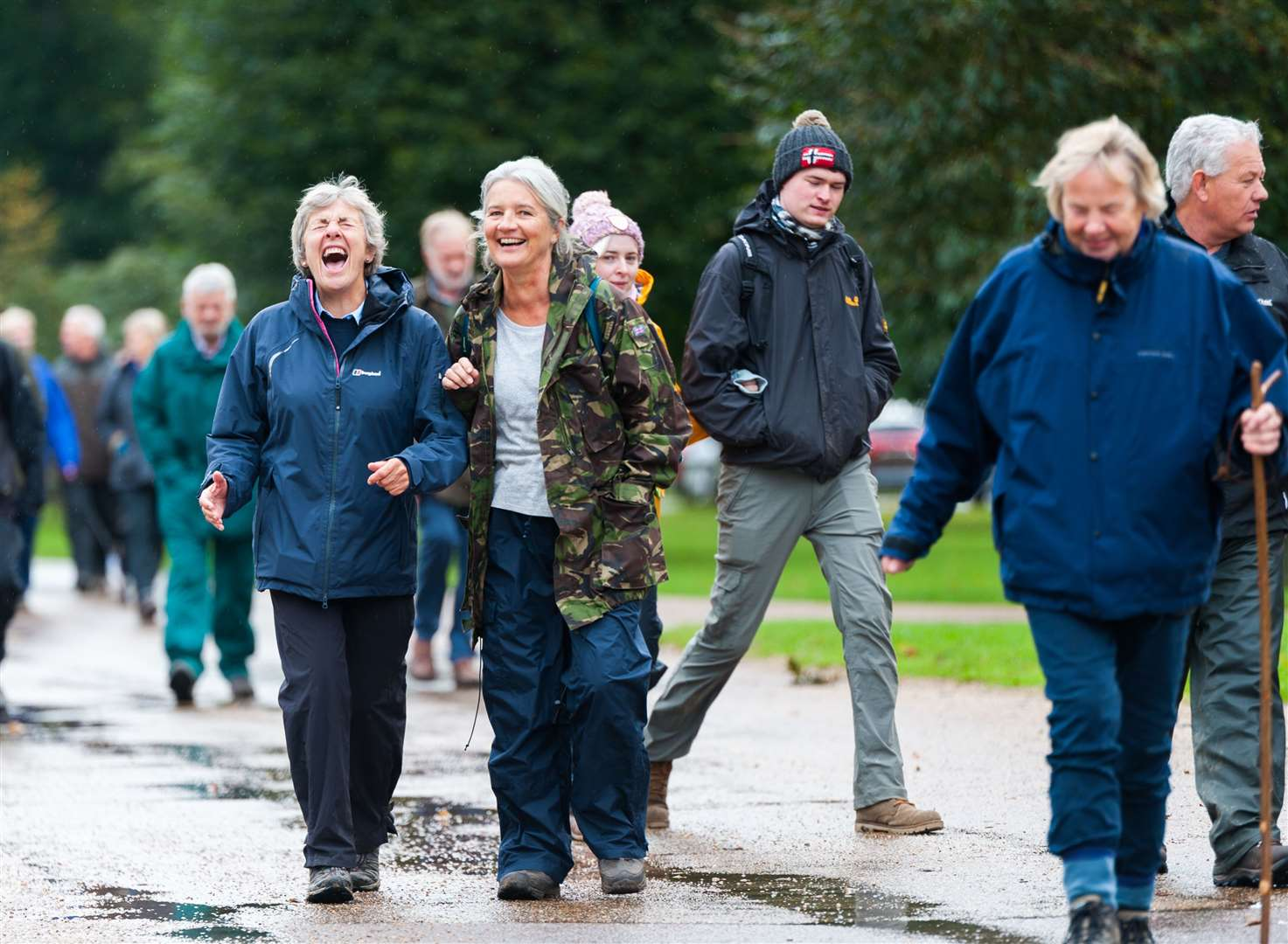 Smiles a plenty as plenty of walkers take part in the fundraiser at Holkham Hall. Pictures: Ian Burt