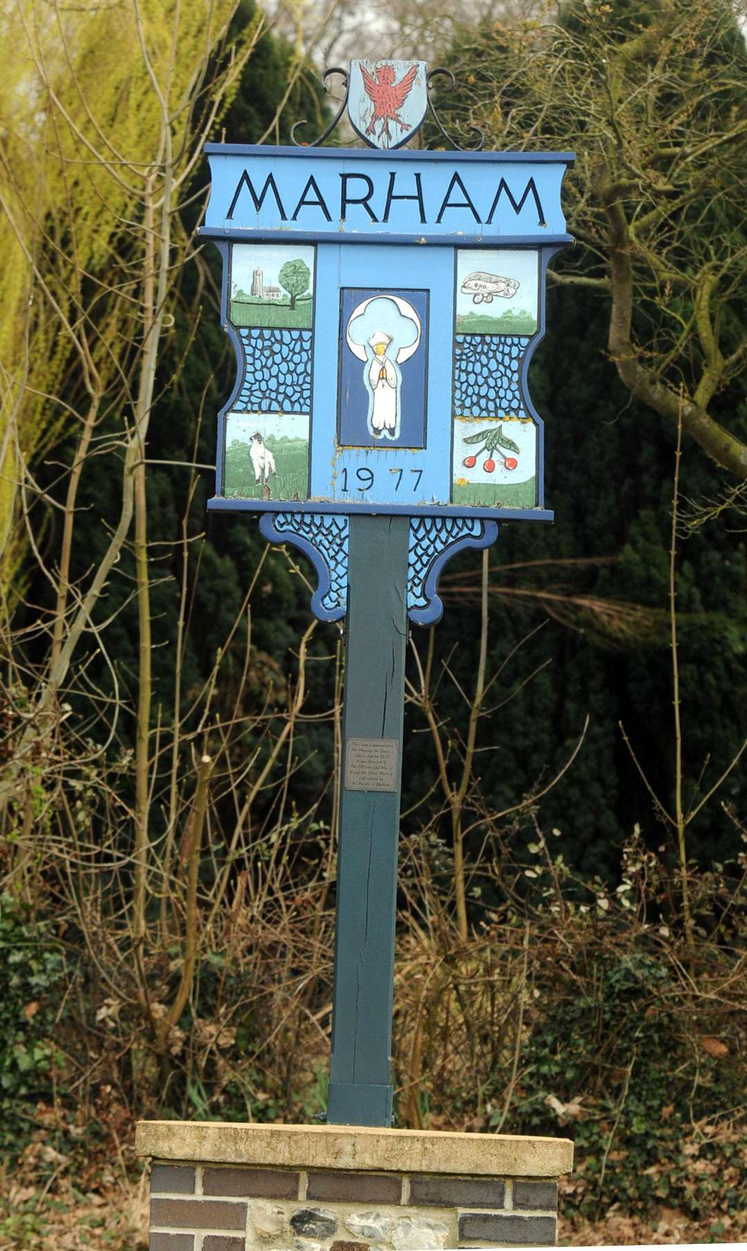 Marham village sign. (4620273)