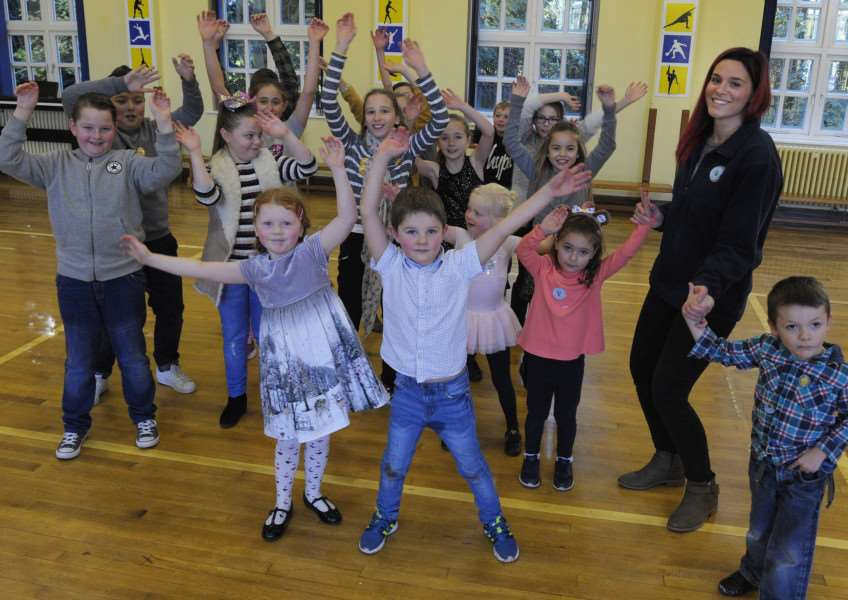 Dance A Thon iao NSPCC at Terrington St Clement Community School'Just some of the youngsters involved in the dance event in the school hall