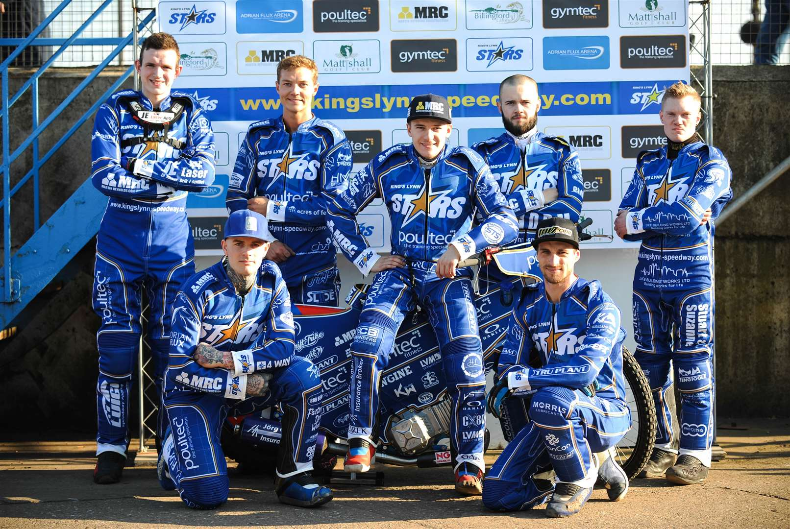 The King's Lynn Stars 2019. Back row (from left) Kasper Andersen, Thomas Jorgensen, Robert Lambert, Erik Riss and Michael Palm Toft. Kneeling (L) Lewis Kerr and Ty Proctor.. (8141342)