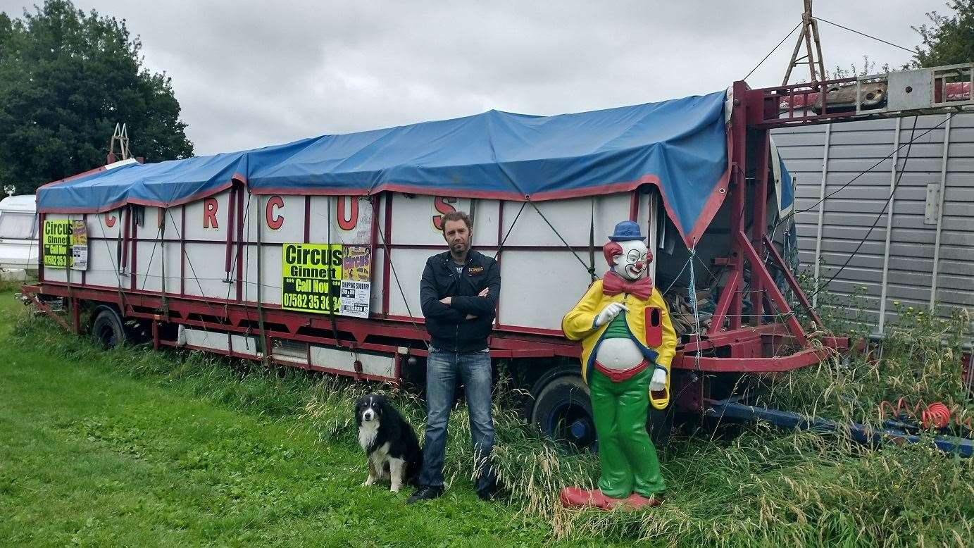 Circus Ginnett, based in Tilney St Lawrence, who are calling for more support during the coronavirus pandemic. The picture shows Patrick Austin, director of Circus Ginnett, next to the circus big top packed onto the tent trailer. Picture: SUBMITTED. (38140593)