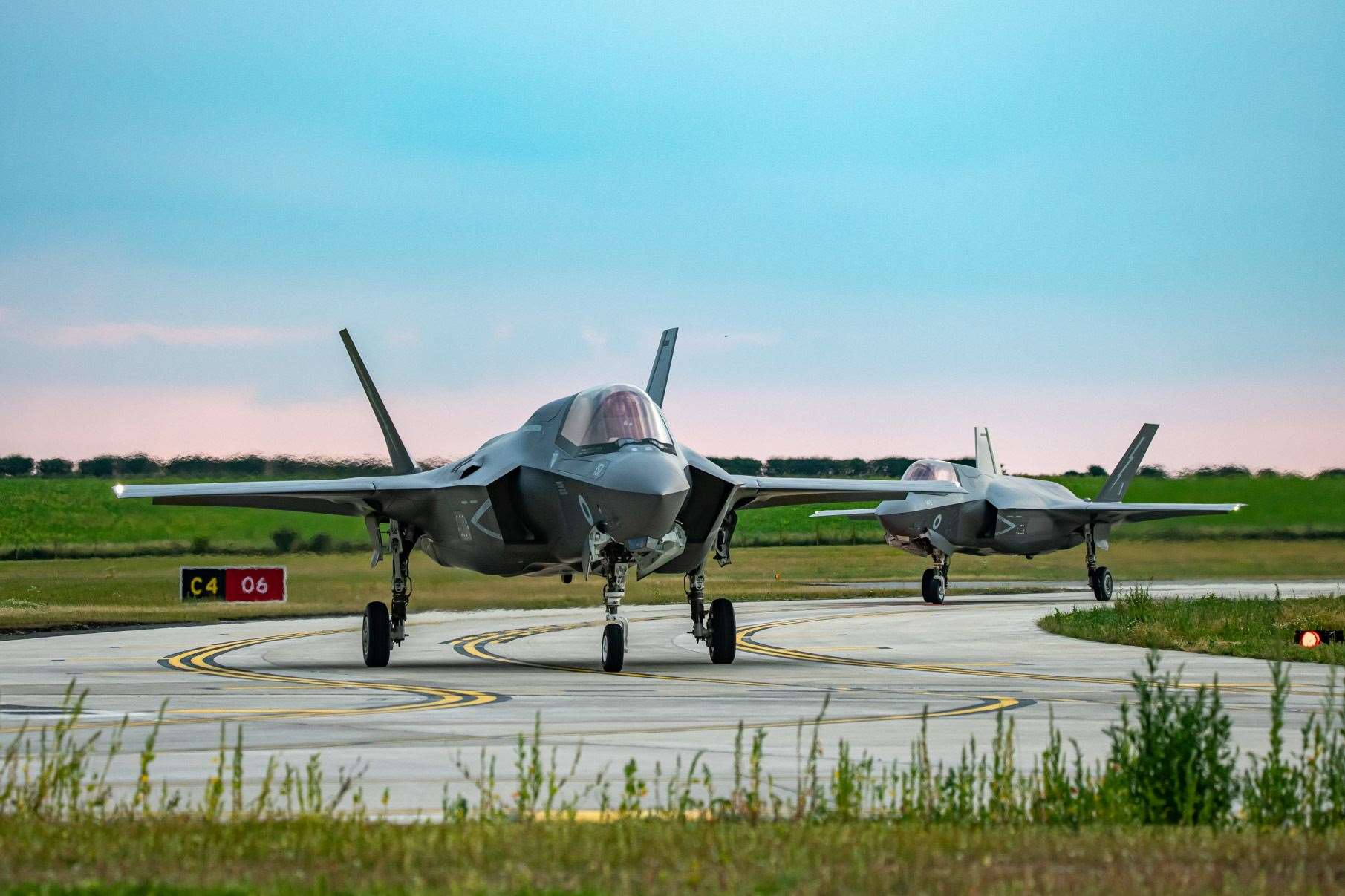 F35 B Lightning II Aircraft of 207 Squadron arrive at their new home RAF Marham after crossing the Atlantic from Beaufort USA. (13934363)