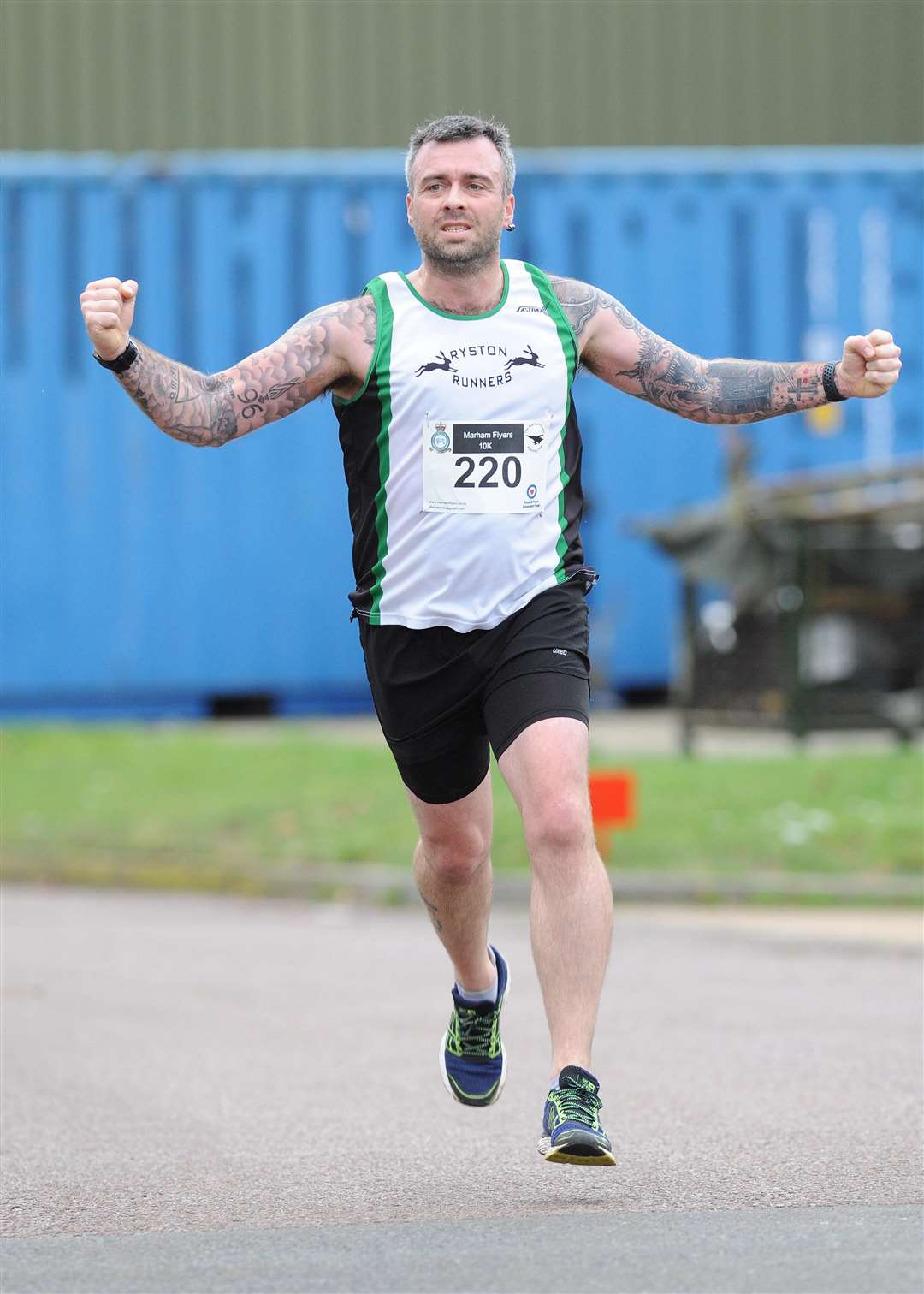 Matt Hitchcock in action at the Marham Flyers New Year's Eve 10k race. Picture: TIM SMITH