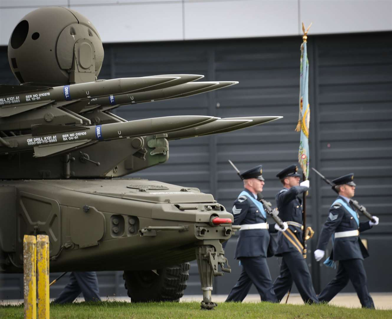 RAF Marham welcomes the 15 Squadron Royal Air Force Regiment to the station during a parade on Tuesday. (42223106)