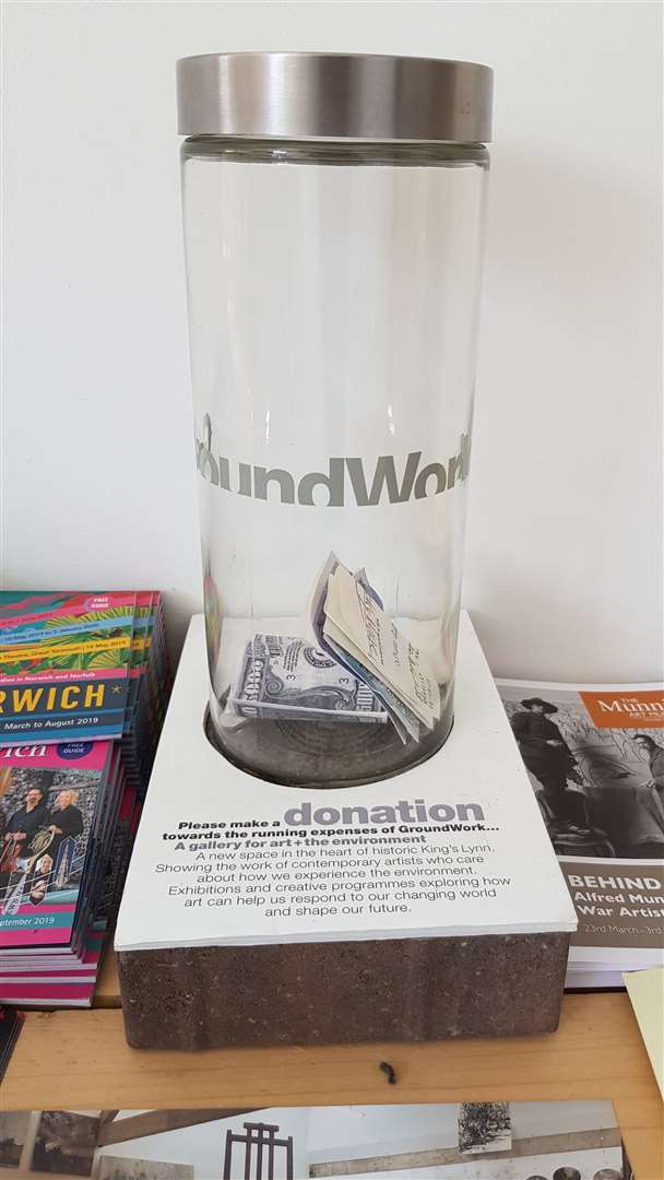 Suspected theft of donation tin for King's Lynn art gallery with