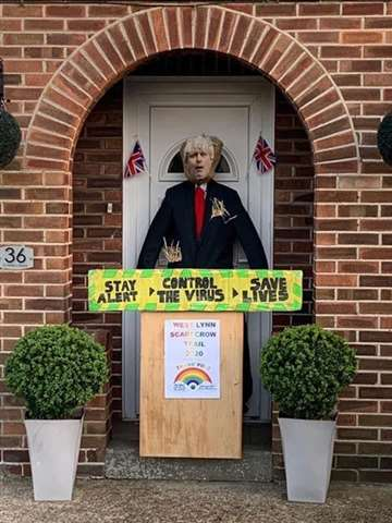 scarecrows created for west norfolk villages event include boris johnson humpty dumpty minions harry potter and dragon designs west norfolk villages event