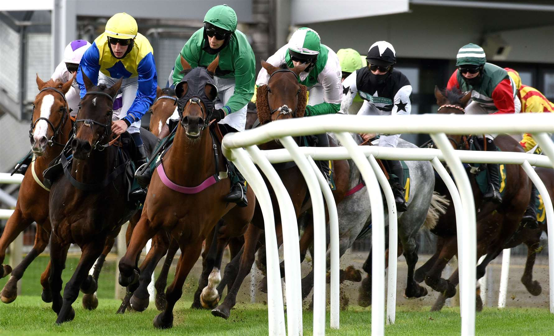 Fakenham Racecourse opens its 2020/21 National Hunt season on Friday 16th October, backed by Sky Sports Racing, will operate without members of the public present due to the Covid 19 restrictions...Race No 5. (42743034)