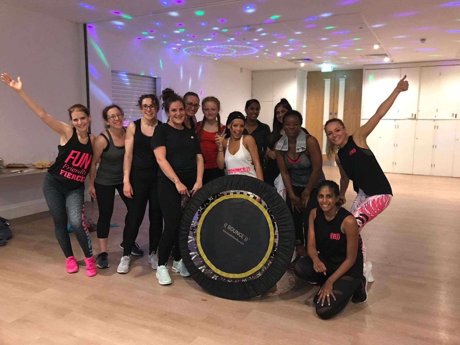 Intructor Nikol is pictured on the left at one of her London classes (15160042)