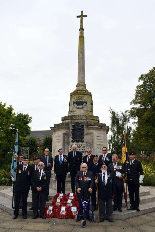Battle of Britain service at King's Lynn's Tower Gardens, September 2018. Photo: SUBMITTED. (4123379)