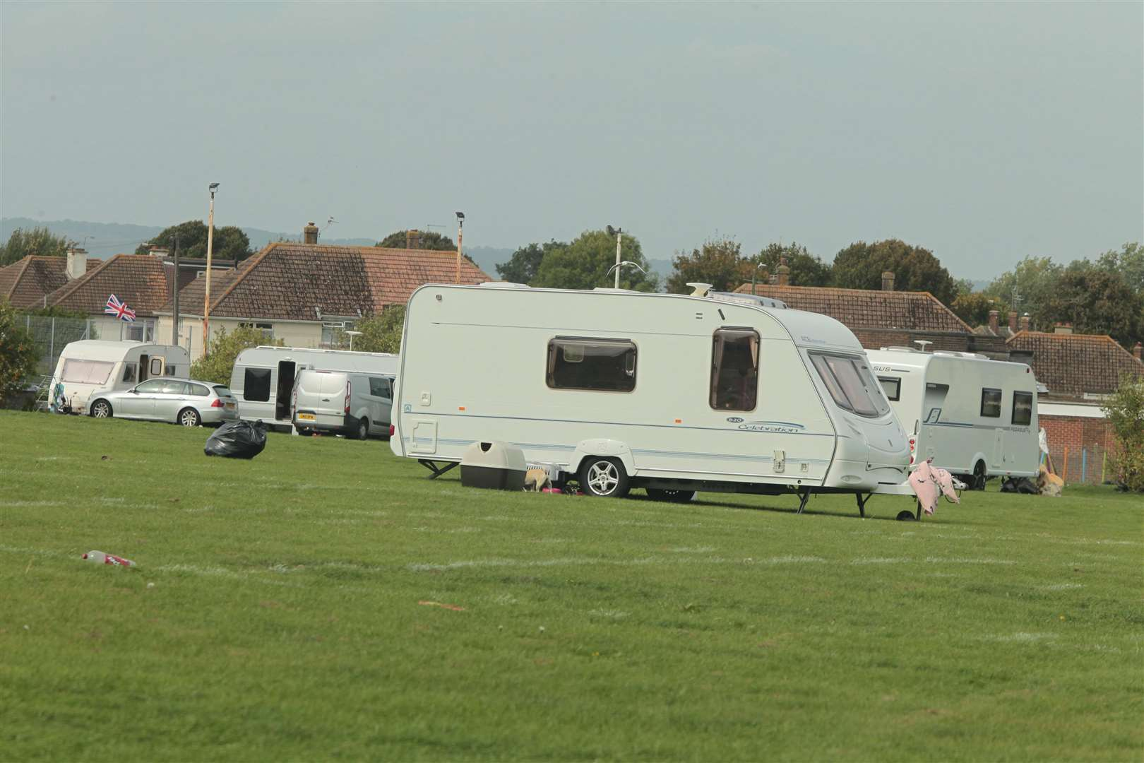 A new report has looked at the number of traveller caravans on sites. (5584963)