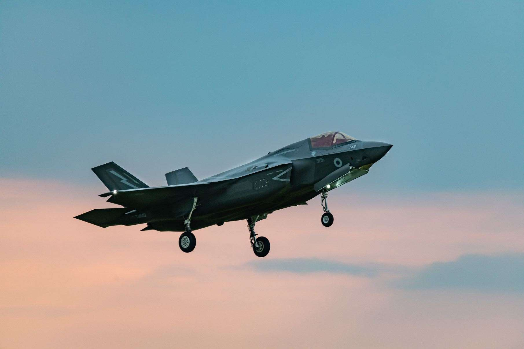 F35 B Lightning II Aircraft of 207 Squadron arrive at their new home RAF Marham after crossing the Atlantic from Beaufort USA. (13934362)