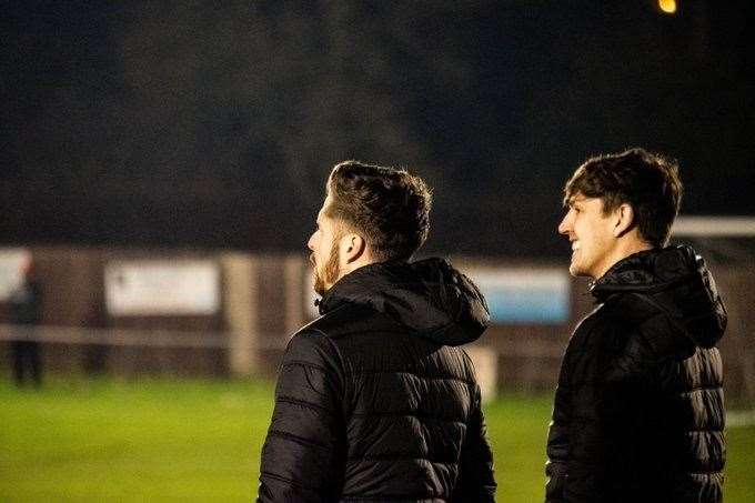 Downham Town's management team of Dale Stokes, left and Craig Dickson, right. (34699135)