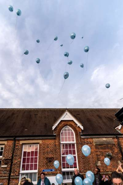 Balloons are released at Highgate Infant School to mark Anti-bullying day.