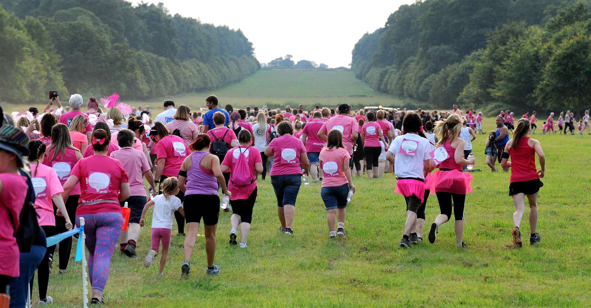 Race For Life 2019 in the grounds of Houghton Hall..Just some of the hundreds of people taking part in the event.. (13927208)