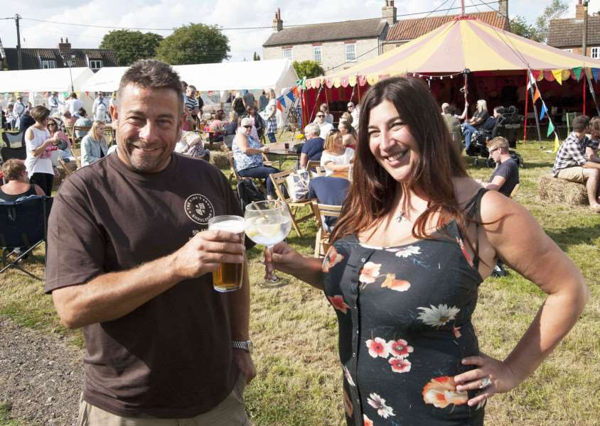 Festival at The King's Arms Shouldham. Pictured Organisers of the Festival Abbie Panks. Keith Matthews.
