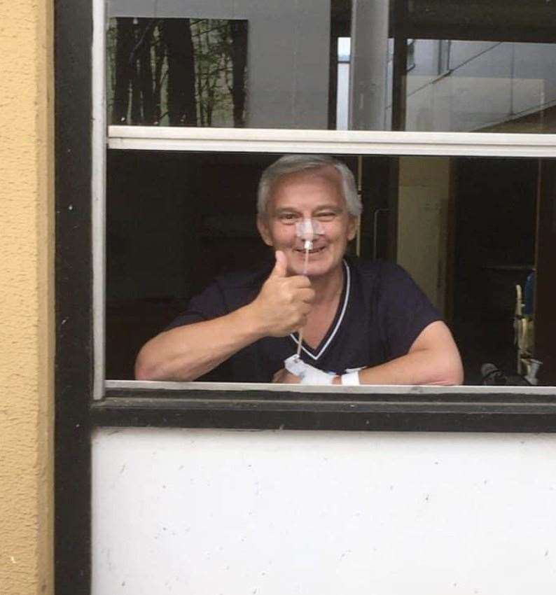 Graham Gardner, 60, at the Queen Elizabeth Hospital. Picture: SUBMITTED