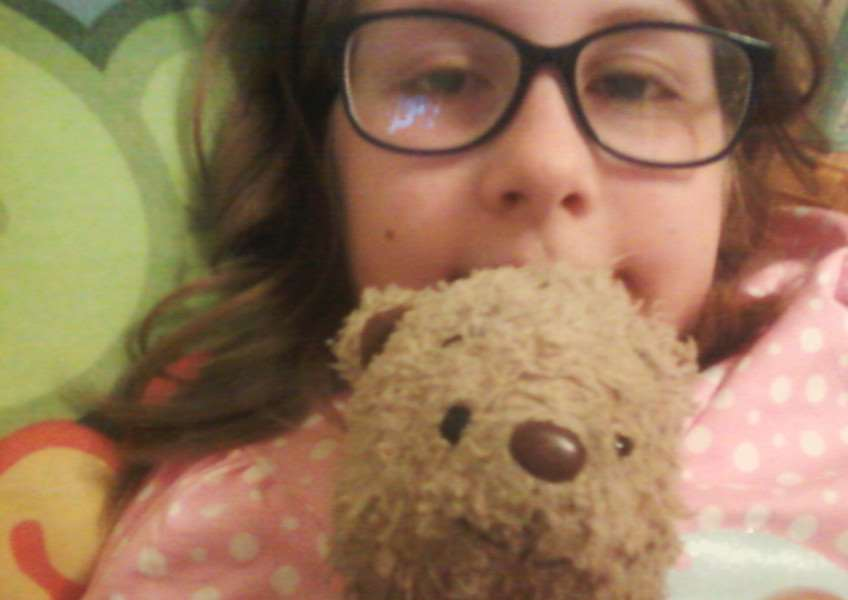 Daisy's teddy bear was last seen in Lynn town centre