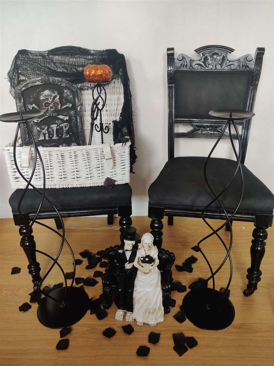 Chairs and slipcovers in different styles can be rented from Dark Broomsticks (50075866)