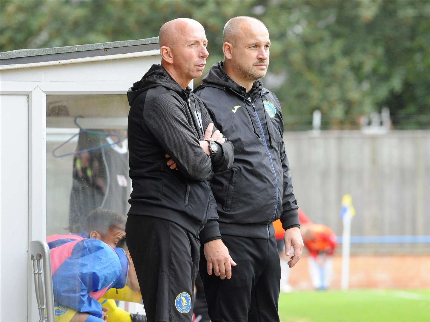 Neil Fryatt and Robbie Back orchestrate team affairs from the bench. Picture: TIM SMITH (4336505)