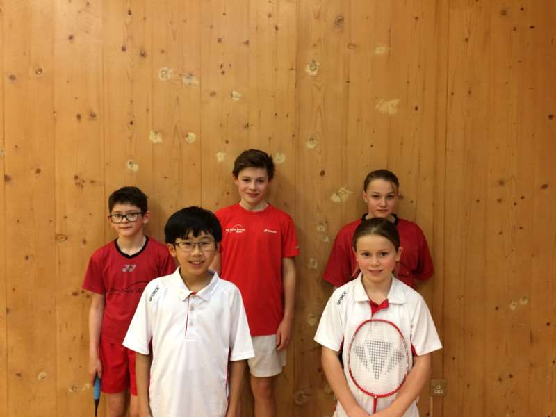 Badminton U14 county champs: Back,from left, David Flannigan Harry Wakefield ' Millie Bowyer Front, from left, Frederick Lo, Amy Howard Missing, Jack Leverett, Noah Wells, Jacob Chalke