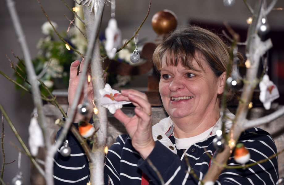 Christmas tree festival, St Clement's Church, Outwell''Elaine Allison