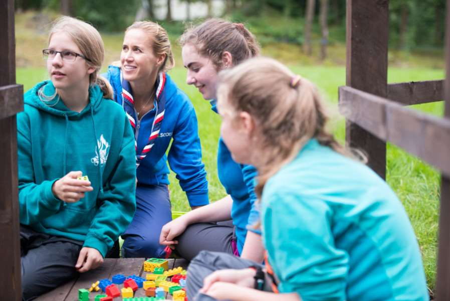 Abi Karreman on the expedition with Scout ambassador Helen Glover. Photo: SUBMITTED.