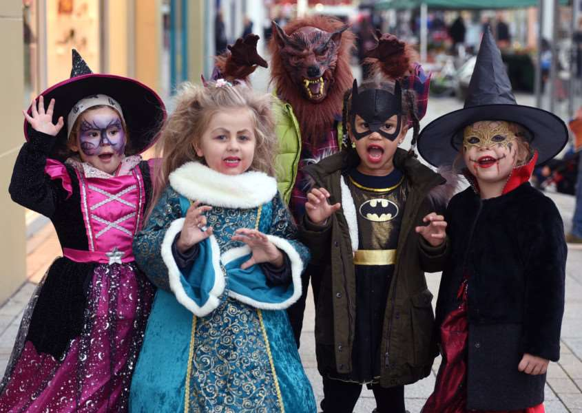 Halloween spooktacular in King's Lynn town centre.