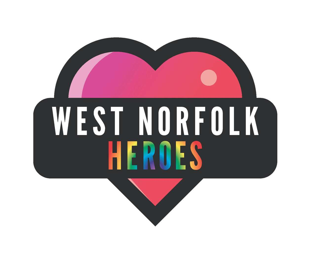 The new Love West Norfolk logo with added rainbow!
