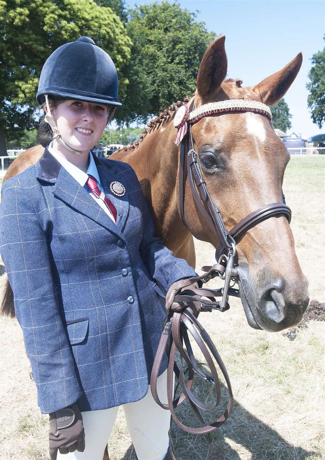 The Royal Norfolk Show Pictured Laura Tilney with her Horse Trix. (2788473)