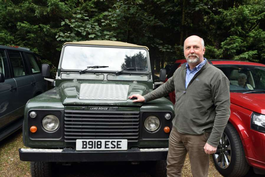 Land Rover drive in aid of Firefighters Charity''Gavin Finlay