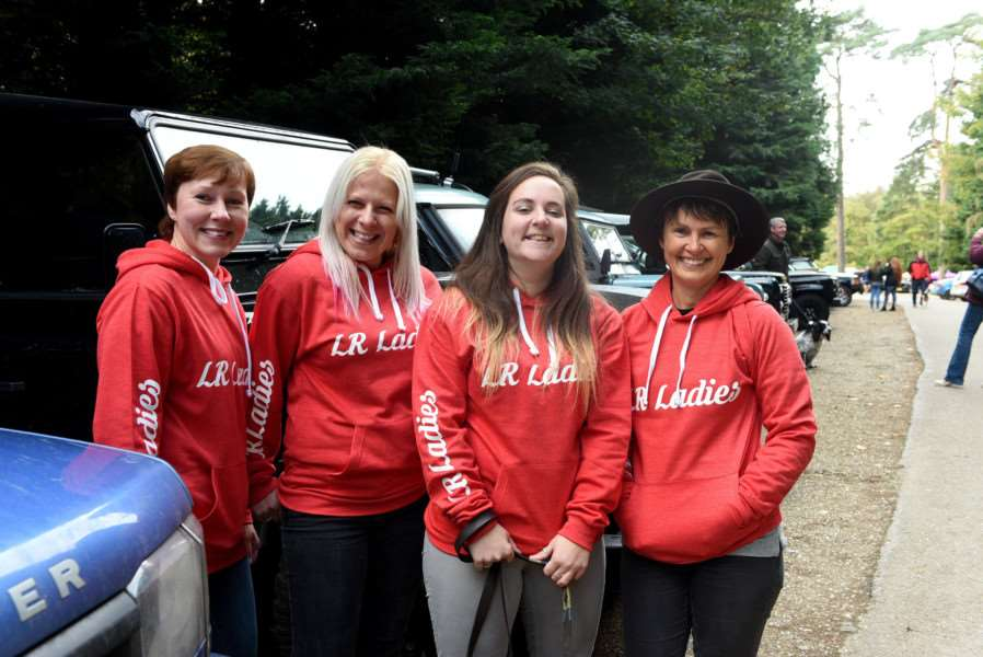 Land Rover drive in aid of Firefighters Charity''left to right Dawn Luckett, Victoria Towell, Anna Griffiths and Wendy Fisher