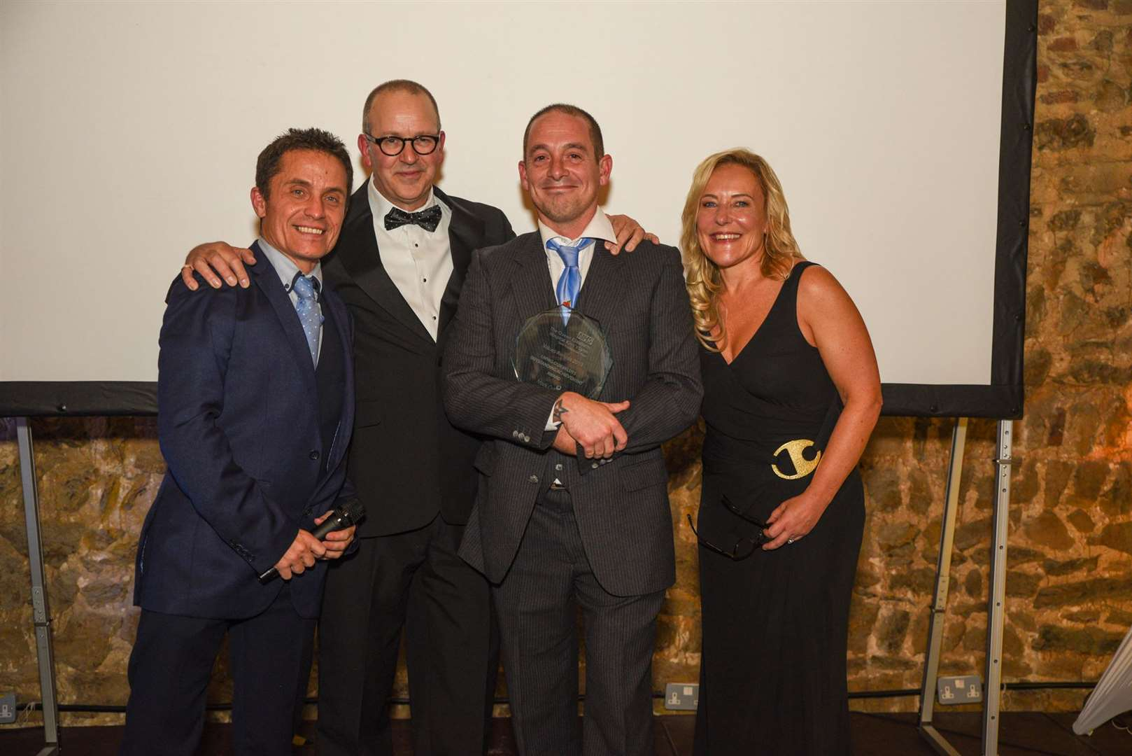 The Living Our Values Outstanding Achievement Award to Mark Collins, pictured second from right(21474942)
