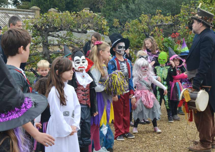 Holkham Halloween'A group of youngsters line up for the fancy dress competition