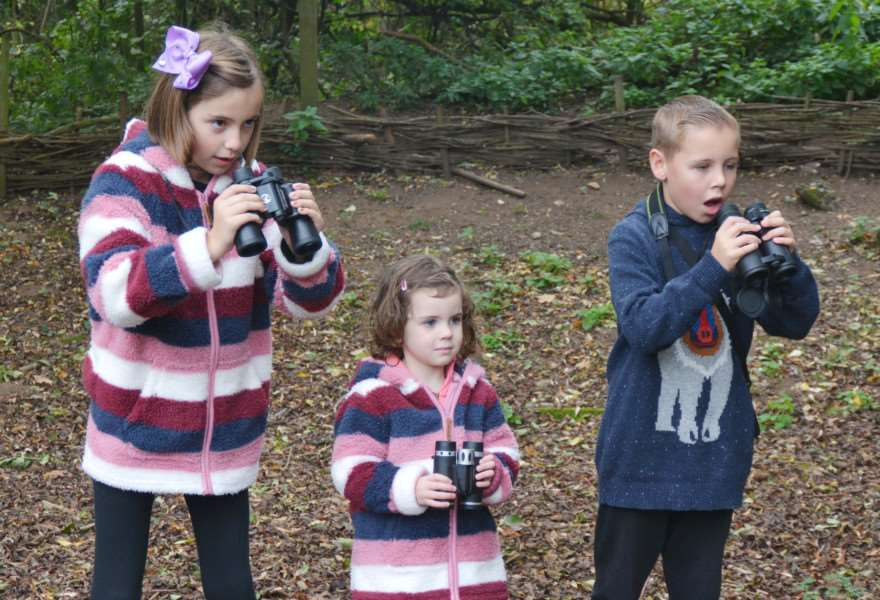 Titchwell Wild Things'From left, Ruth Hornsby, and Leilani and Josh Pope spot something wild in the undergrowth