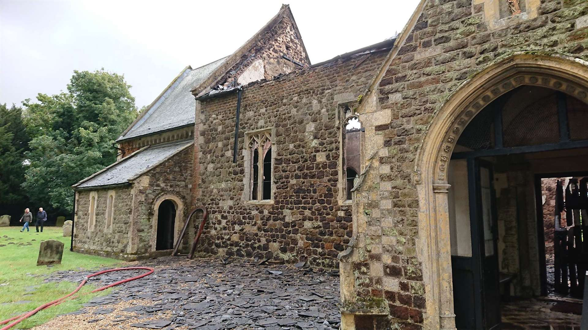 The damage to the church was considerable