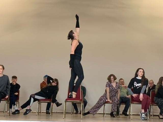 Fakenham's FADLOS in rehearsals for their COVID-secure performance of Chicago (43100525)
