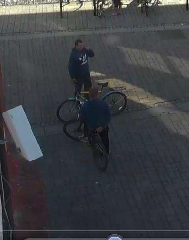 CCTV images released in connection with a bike theft. Photo: Norfolk Police.