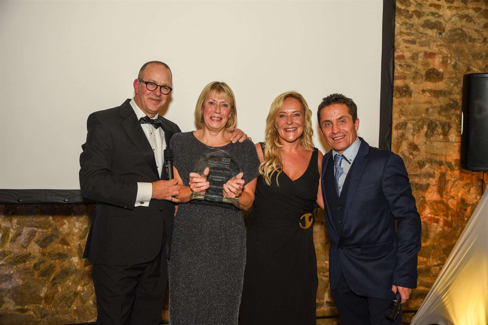The Chairman's Award to Debbie Linford. Pictured from left are Steve Barnett, Debbie Linford, Caroline Shaw and Simon Rowe(21474937)