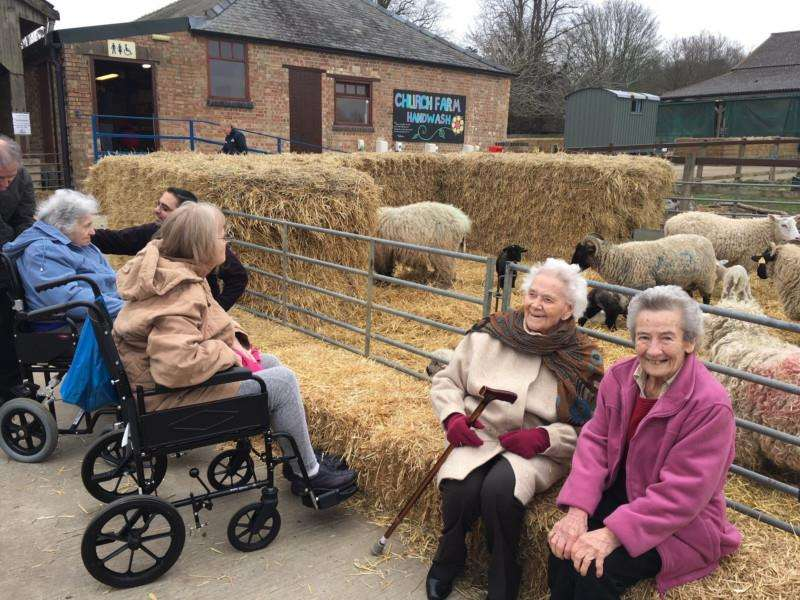 Downham Grange residents at Church Farm. Photo: SUBMITTED.