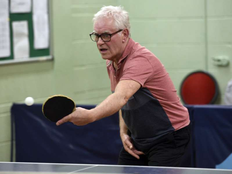 Table Tennis action at Lynn Sport'Mike Smith