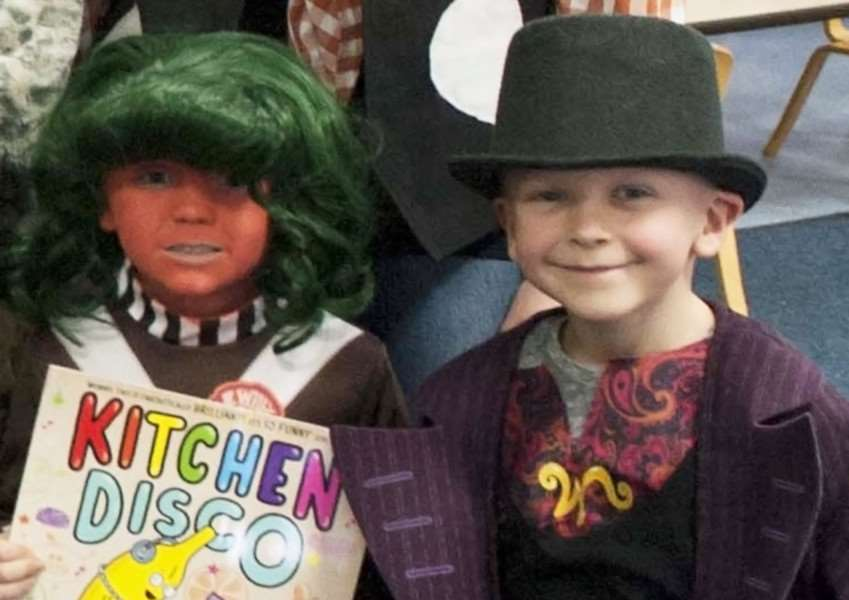 World Book Day at Terrington St Clement Community School. Pictured children dressed in character figures.