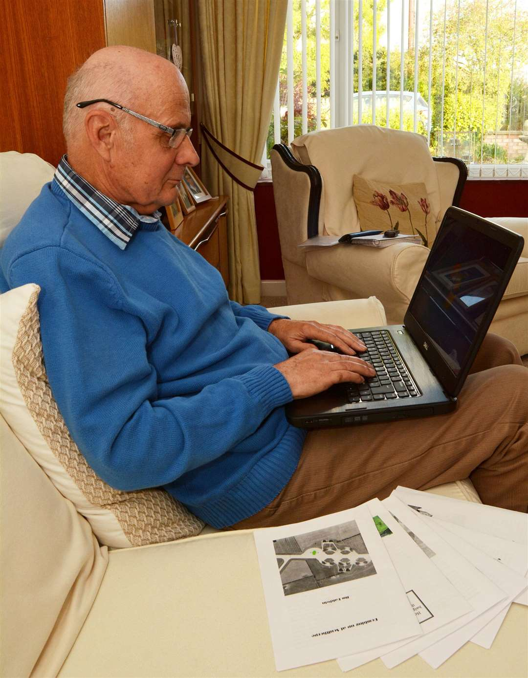 Jim Baldwin, of Fakenham, who is continuing to write after recovering from a stroke (4685279)
