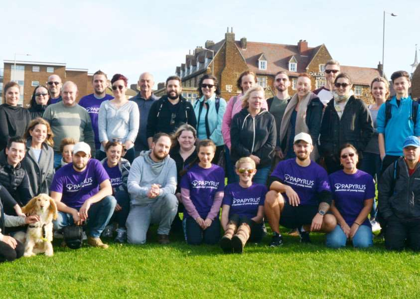 Suicide Awareness Walk from Hunstanton'Walkers with organiser, Cherrelle Blake, back left, before setting out on their walk