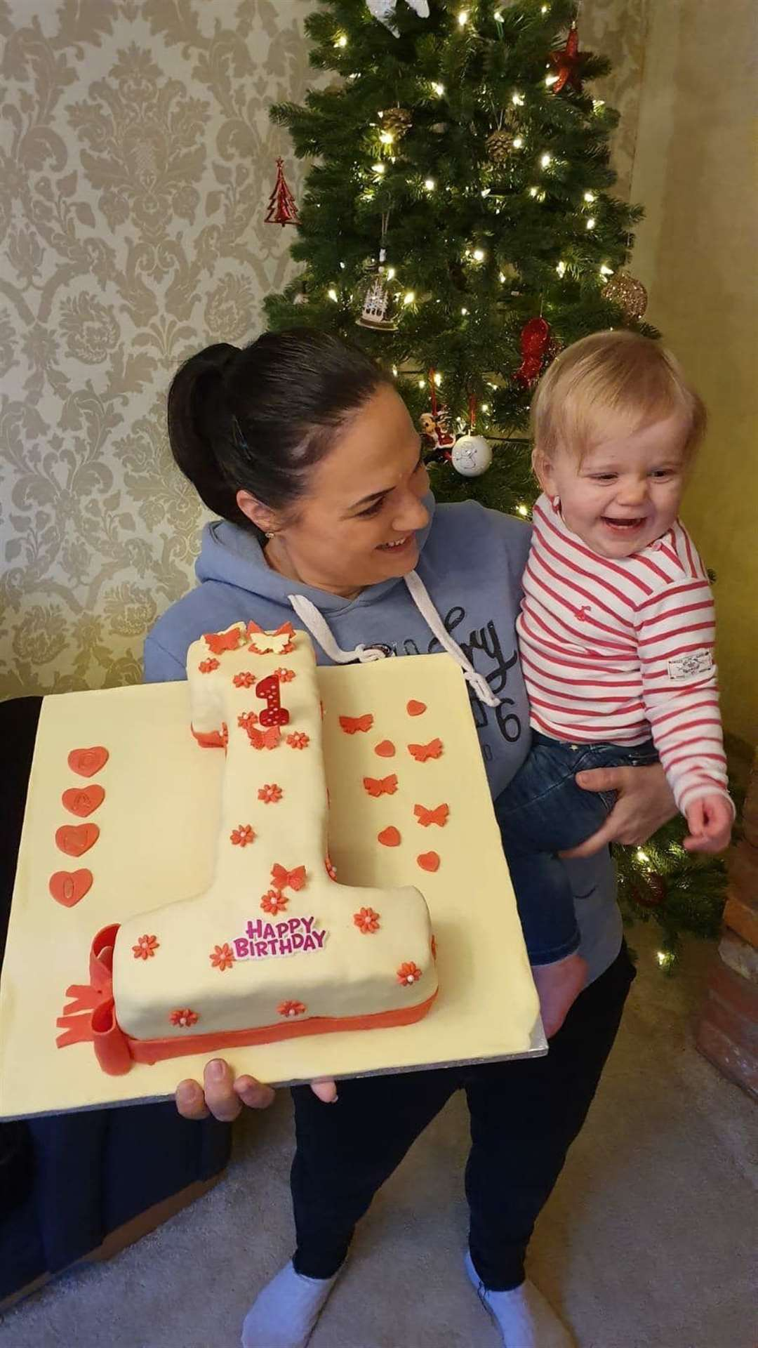 Nikki Scott with daughter Dani on her first birthday. Picture: SUBMITTED