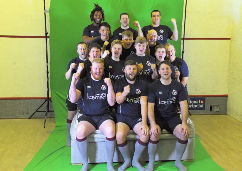 A team of players and club officials from West Norfolk Rugby Club are to star in a TV commercial for the Kaymed Mighty Bed to show just how strong it is.'Camera, Lights, action filming gets underway at West Norfolk Rugby Club for the Bed advert.