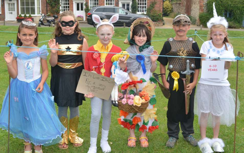 BURNHAM MARKET FLOWER SHOW AND CARNIVAL'Competitors in the 6-10 age group in the fancy-dress competition