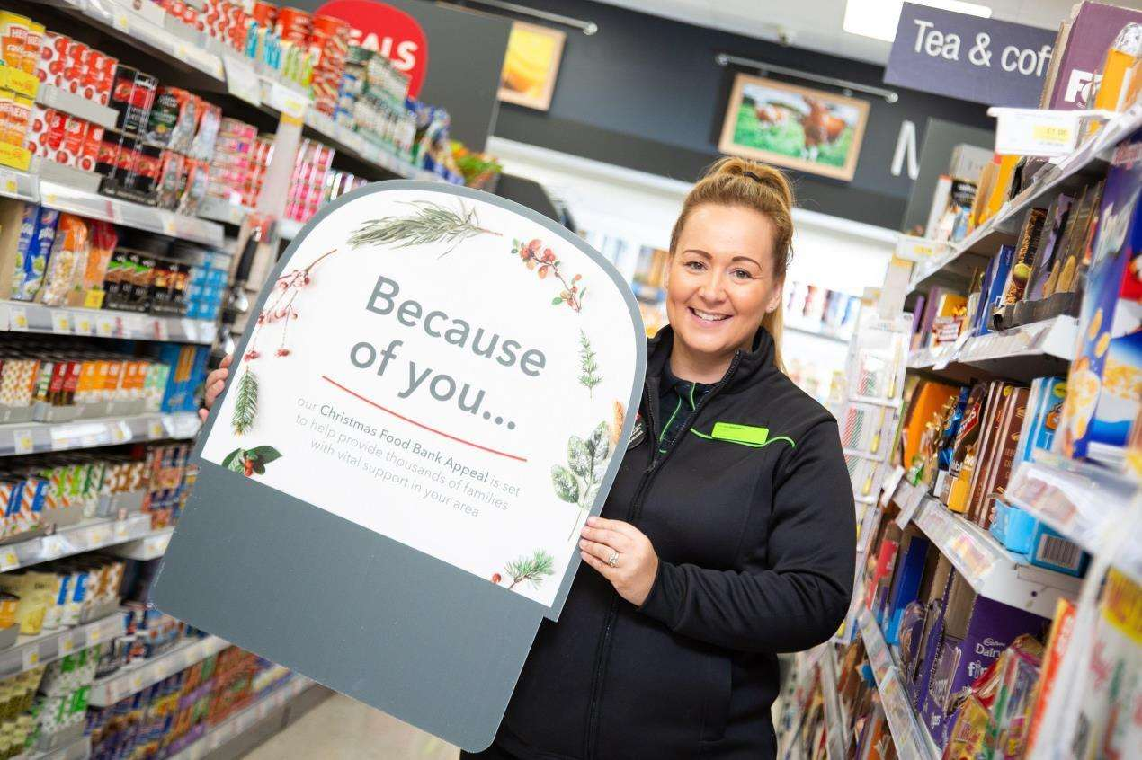 Central England Co-operative colleague Sheena Lee is celebrating after over 75,000 items were donated as part of the Christmas Food Bank Appeal. (6295175)