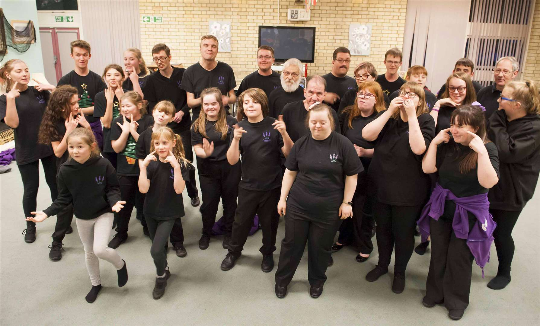 Rehersals of The King's Lynn lavender Hill Mob Theartre Company pre Christmas Variety Show.. (5134242)